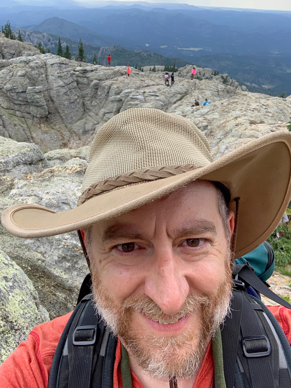 On the summit of Black Elk Peak