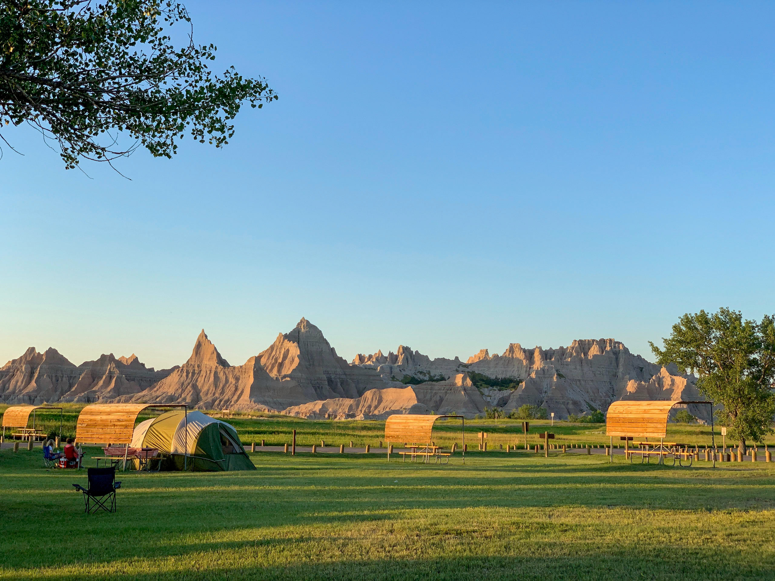 Badlands campground