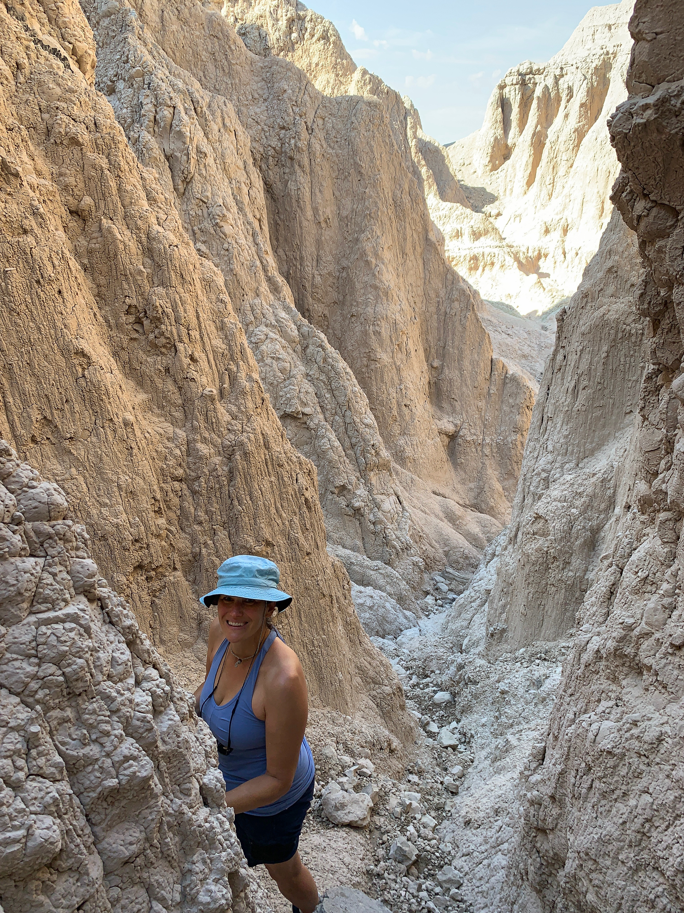 Dorinna exploring side canyons